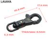 5pcs 1/4'' Plastic Swivel Snap Hook For Weave Paracord Lanyard Buckles Backpack Webbing 6.3mm