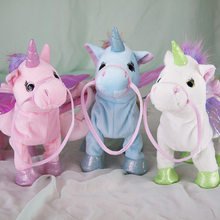Singing Walking speaking Unicorn plush toys Electronic stuffed animals for children girls boys baby Humor Ted ted hughes collected poems for children