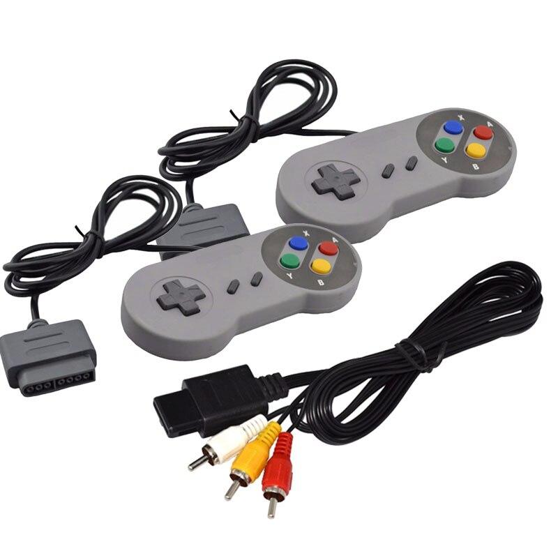 3 шт./лот, 16-битный контроллер, AV-кабель для системы управления консолью Nintendo SNES