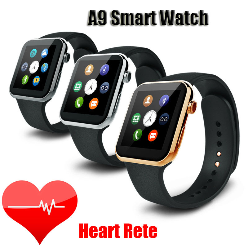 new styles 3f5cf 35dfa US $125.0 |A9 Gold Men Watch Smart Watch for Apple iPhone 6 5s 5C 5  Wristwatch for Samsung S4/S3/Note2/Note3 HTC Huawei Android Smartphone on  ...