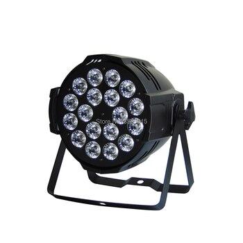 6 Sztuk/partia Aleacion Aluminio LED światła Sceniczne Marygel 18 Led Par światła RGBW DMX Kolor Mieszania Etapie Oświetlenie Do Makijażu