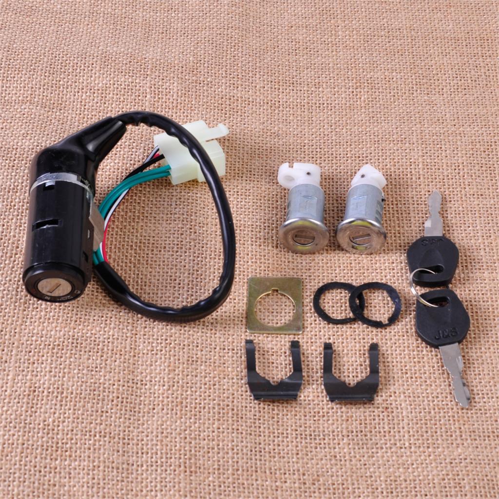 Переключатель зажигания двигателя, 5 проводов, 2 клавиши, замок, ящик для инструментов, замок для китайского скутера GY6, 50 куб. См, 125 куб. См, 150 ...