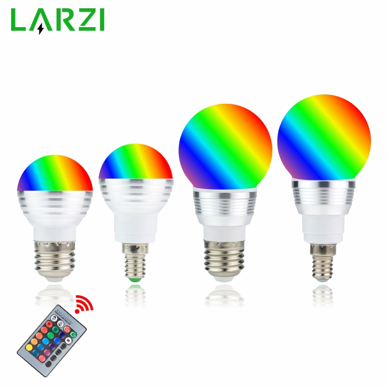 RGB LED Bulb E27 E14 3W 5W 16 Color Changing RGB Magic Light Bulb Lamp 85-265V 110V 220V RGB Led Spotlight With Remote Control