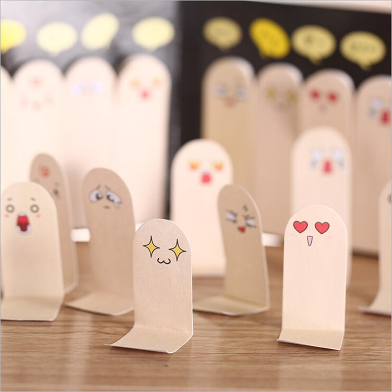 creative kawaii finger expression sticky notes stationery diary stickers post cute emoticons emoji face sticker little things
