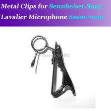 Sennheiser me2 용 예비 교체 가능 6 7mm 금속 클립 마이크 클립 sony v1 d11 lavalier lapel 마이크