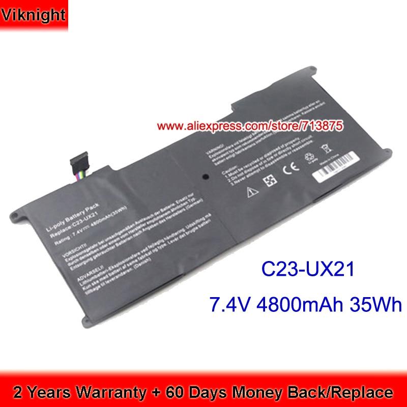 7.4V C23-UX21 Battery For Asus UX21E Zenbook UX21 C23-UX21 UX21A Ultrabook 4800mAh 35Wh крышка gastrorag c23