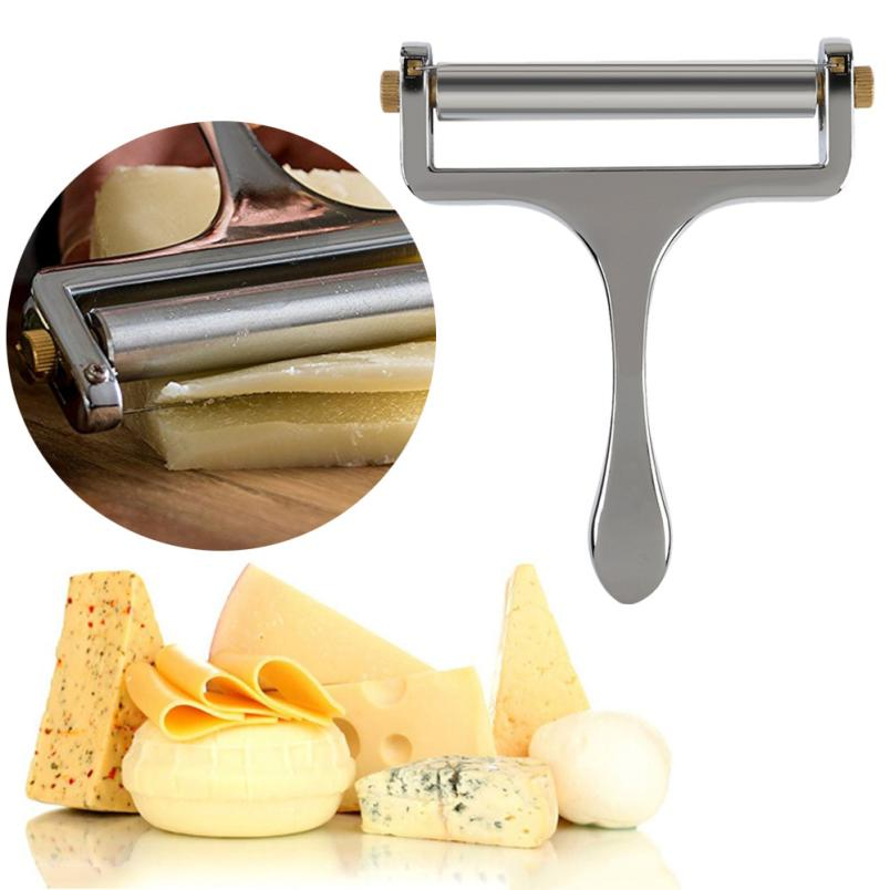 Zinc Alloy Silver Cheese Slicer Cutter Adjustable Cheese