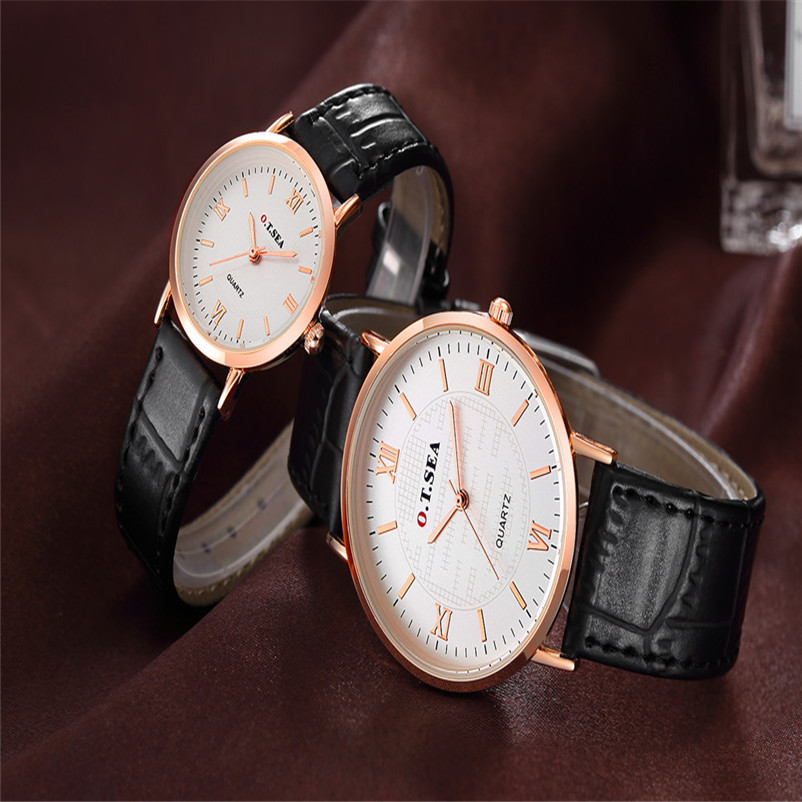 Watch Couple Luxury Strap Cheap 2PC Quartz 0717 Men's High-Quality Lady 9s