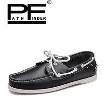 Pathfinder Модные мужские повседневные кожаные туфли 2017 г., весна-осень Zapatillas Hombre дышащие кроссовки Для мужчин S без каблука Большие размеры 38-45