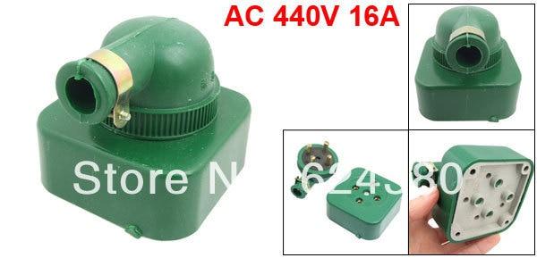 AC 440V 16A 25A Green Round Pin Three 3 Phase Four 4 Wire 3P4W 3P 4W Rewireable Industrial Plug Socket Set|set 4|set 3set green - AliExpress