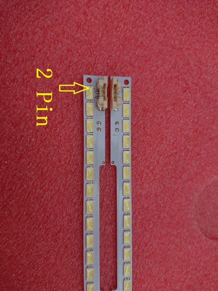 2 PCS(1*left+1*right) UA55D6600WJ LTJ550HW01 LTJ550HW03-H LTJ550HW04-H LED backlight bar BN64-01664A 2011SVS55 100 LEDs 680mm