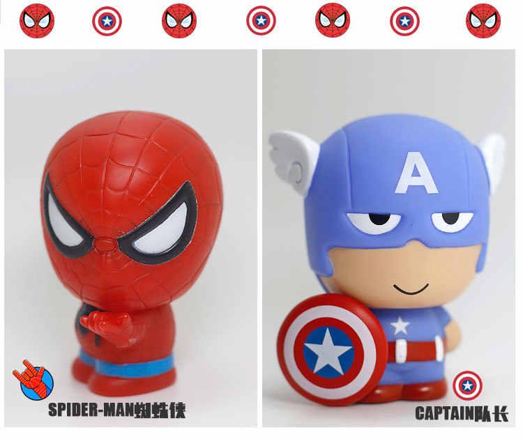 5 шт./компл. 5 шт./компл. Милая версия Q супер он Фигурки Человек-паук Капитан Тор Железный человек качающаяся голова кукла автомобиль украшения подарок