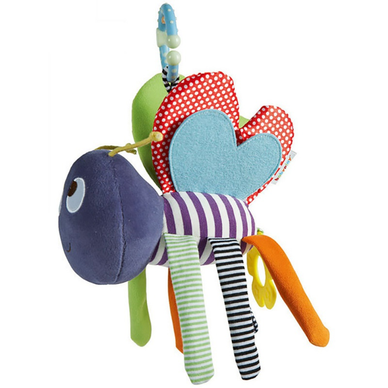 2018 Baby Toys Infant Soft Bee Plush Toy Baby Pram Bed Bell Soft Hanging Baby Toys Animal Handbells Rattles Education Doll Q1