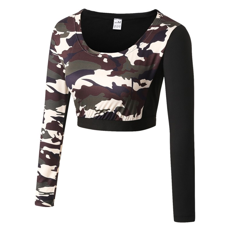 Sportswear Cycling Camouflage Women's Fitness Riding Wicking Sweat-Exercises Elastic