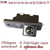 Tel kablosuz araç kameralar plaka kamera dikiz Ters Kamera için AUDI A3 A4 A5 A6 A6L A8 Q7 S4 RS4 S5 S6 RS6 PAL NTSC