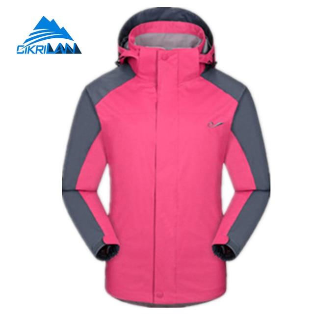 cbe0c1b84 2018 Outdoor Sports Winter Jacket Women Hiking Ski Chaquetas Mujer  Waterproof Windstopper Climbing Coat Warm Jaqueta