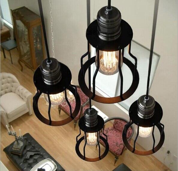 vintage loft black iron nest cage e27 pendant light Dia 15cm*H25cm for restaurant dining room aisle bar AC 90-265V 1862