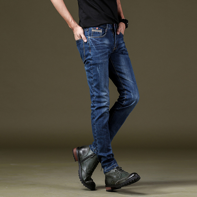 COHO new 2018 jeans male feet jeans stretch cultivate ones morality