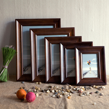 Wood photo frame mounted wood wall certificate