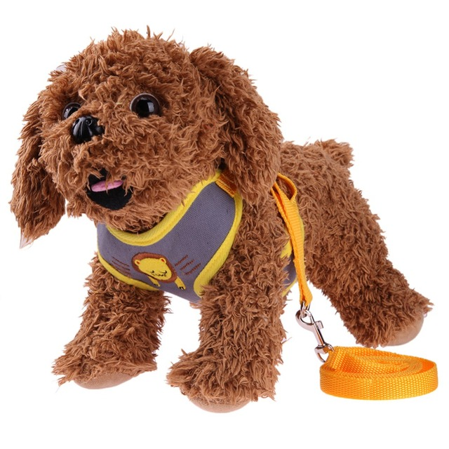 Cute Cats Dog Harness Vest Walking Leash Collar Set Pets Puppy