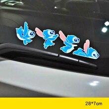 Aliauto украшение автомобиля мультфильм стежка наклейка крышка наклейки с царапинами для hyundai Accent I30 I35 Santa Fe Solaris Elantra запчасти