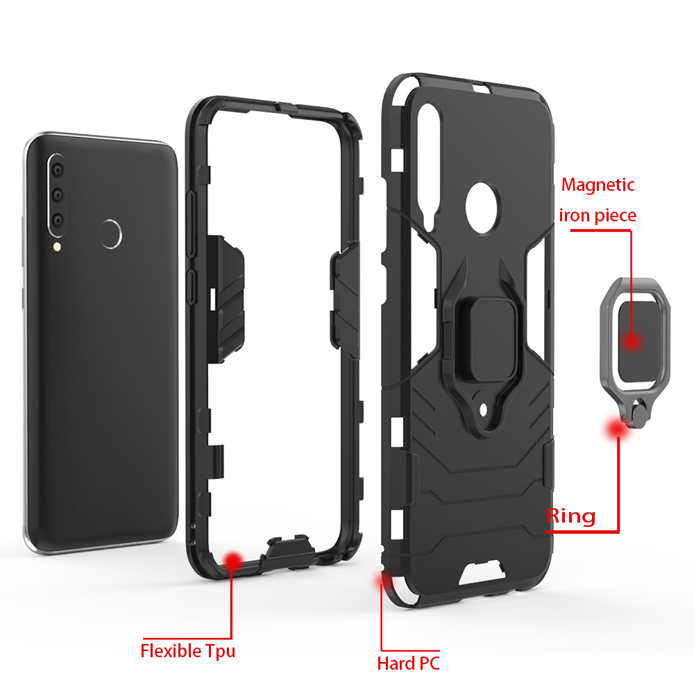 Image 5 - honor 10i Case For Huawei honor 10i case Shockproof Armor Ring Magnetic Car Hold Soft Bumper Cover For Huawei honor 10i Case-in Fitted Cases from Cellphones & Telecommunications