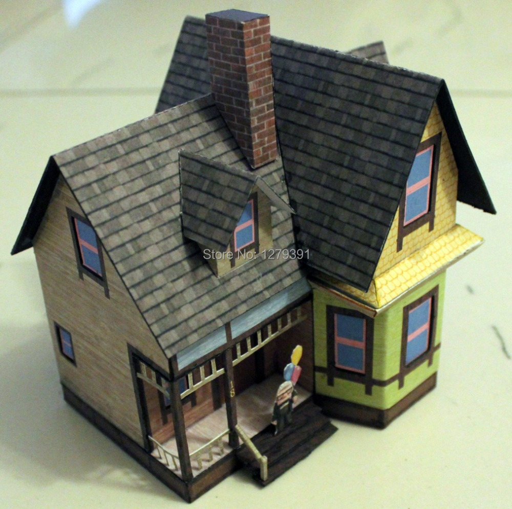 free shipping 1 87 ho architecture papermodel kit carl s house of