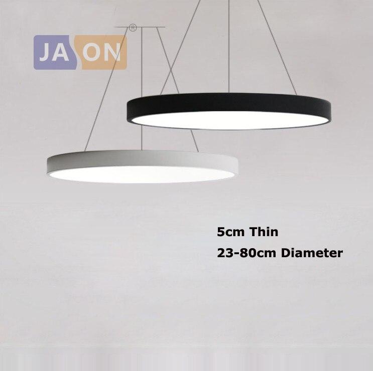Led moderno acryl ferro redondo 5cm super fino led lâmpada led luz. pingente luzes. pingente lâmpada. luz pingente para sala de jantar foyer