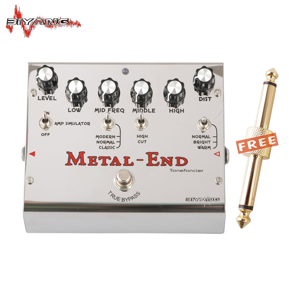 Biyang Tonefancier Metal End Pro 18 Distortion modes Electric Guitar Effect Pedal True Bypass New 400 B new effect pedal mooer solo distortion pedal full metal shell true bypass