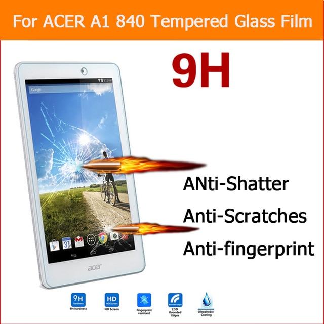 """1 unids A1-840-16PT de cristal templado de cine Para Acer Iconia tablet 8 8.0 """"Anti-shatter HD Film Protector de Pantalla con el paquete al por menor"""