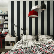 PAYSOTA Modern Black And White Stripes Non-woven Wallpaper Bedroom Living Room Sofa TV Setting Wall Paper