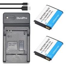 DuraPro 2Pcs BP-70A Battery + Ultra Slim USB Digital Charger for Samsung ST66 ST700 ST88 ES65 ES95 MV800 PL120 PL170 ES80 ST30