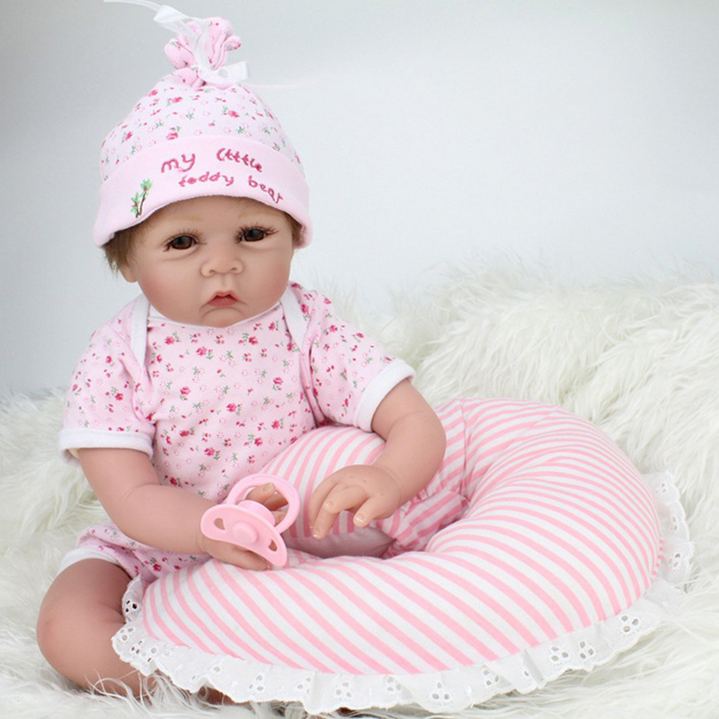 19 Princess dolls Lifelike Reborn/Newborn Baby Model Toys Pink Girl Baby  Handmade Fashional Doll   Gifts For Children About 45 55cm hot sale newborn dolls lifelike baby girl princess kids toys for children gifts fashion cute silicone reborn baby dolls