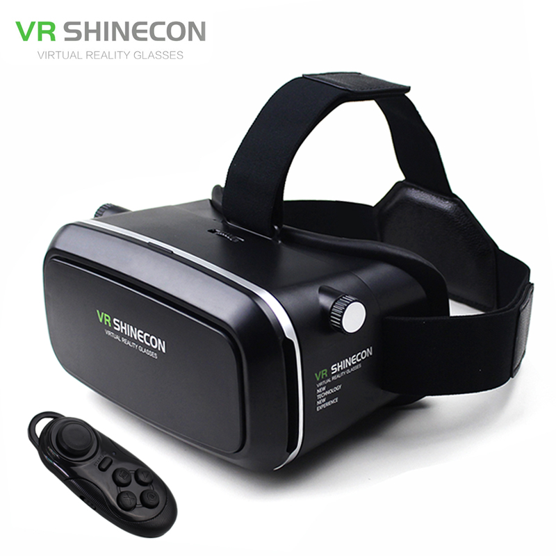 "<font><b>VR</b></font> Shinecon Virtual Reality 3D <font><b>Movie</b></font> Smartphone <font><b>Game</b></font> 3D <font><b>Glasses</b></font> <font><b>Helmet</b></font> 3 D <font><b>VR</b></font> Cardboard 4.7-6"" Smart Phone+ Bluetooth Controller"