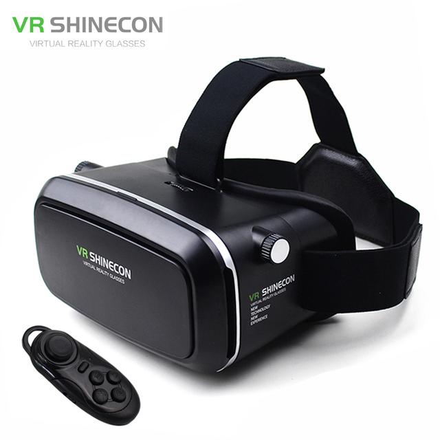 """VR Shinecon Realidad Virtual 3D Película Juego Inteligente 3D Gafas Casco 3 D VR Cartón 4.7-6 """"Smart Phone + Bluetooth Controlador"""