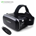 "VR Shinecon Virtual Reality 3D Movie Smartphone Game 3D Glasses Helmet 3 D VR Cardboard 4.7-6"" Smart Phone+ Bluetooth Controller"