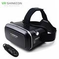 """Vr shinecon smartphone do filme em 3d de realidade virtual 3d óculos capacete 3 d vr papelão 4.7-6 """"Smart Phone + Bluetooth Controlador"""
