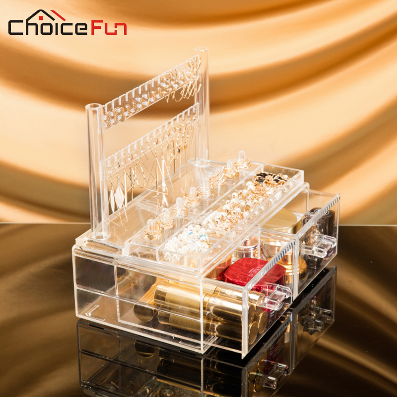 CHOICE FUN Latest Design Acrylic Jewelry Organizer Clear Plastic