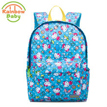 f7ff2e52e6 Rainbow Baby Blue Kitty Cat SchoolBag Ultra-Light Kids   Babys Bags Wearable  Boys and Girls Bagpack Non-Polluting Backpack