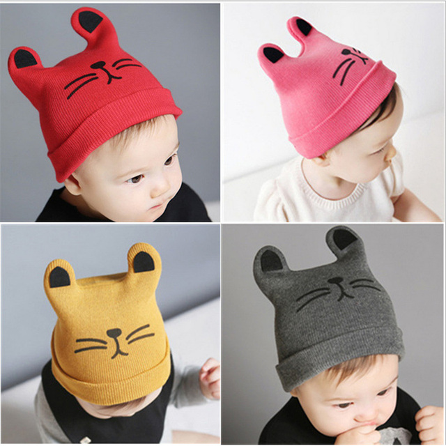Trendy Cat Baby Hat for Infants | Fall Winter 2017 Collection