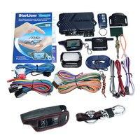 Starlionr Russian Version B9 Remote Engine Star 2 Way Auto Car Alarm System With Starlionr B9