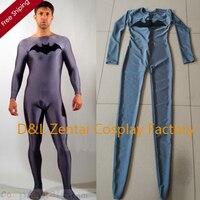 משלוח חינם DHL אפור כהה באטמן גיבור בגד גוף חליפת לייקרה ספנדקס מסיבת ליל כל הקדושים זול SC11301
