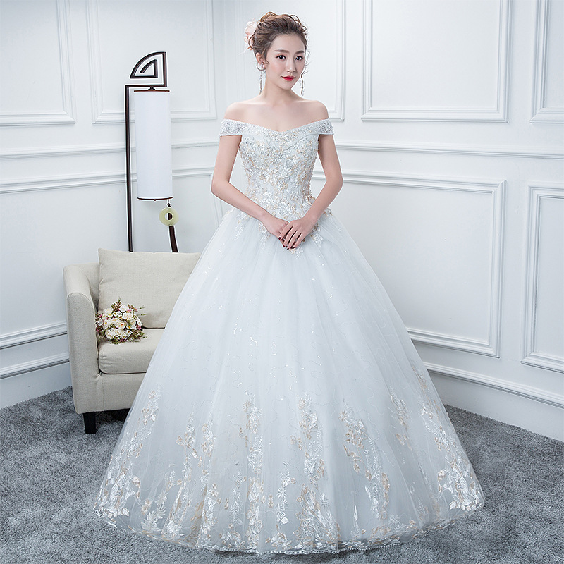 Bride Bridal Dresses 2020 New Vestidos De Noiva Lace Embroidery Luxury Wedding Dress Princess Style Ball Gown Robe Mariage