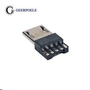 20 pcs/lot USB Male 5 Pin USB Connectors Plastic Shell Micro USB Connector Jack Tail Plug Sockect Terminals