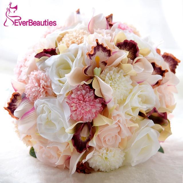 Buque de noiva Pink Wedding Bouquets For Brides Outside Beach ...
