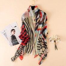 REALSISHOW 2019 Fashion Gorgeous Silk Scarf Luxury Woman Brand Scarves for Women Shawl High Quality Print hijab wraps 180*135 CM