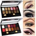 2017 Cosméticos de Color Maquillaje Paleta de Sombra de Ojos Mate Pigmento Impermeable 12 Color Glittle Ahumado Paleta Sombra de ojos Set de Maquillaje