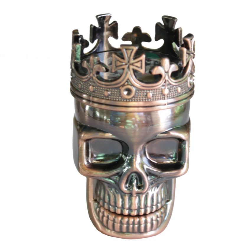 1PC Creative King Skull Herb Grinder 3 Parts Cigarette Rolling Tool - Household Merchandises - Photo 2