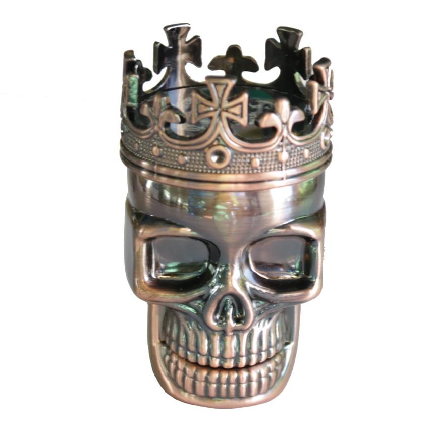 1PC Creative King Skull Herb Taşlama 3 hissələri Siqaret yayma - Ev əşyaları - Fotoqrafiya 2