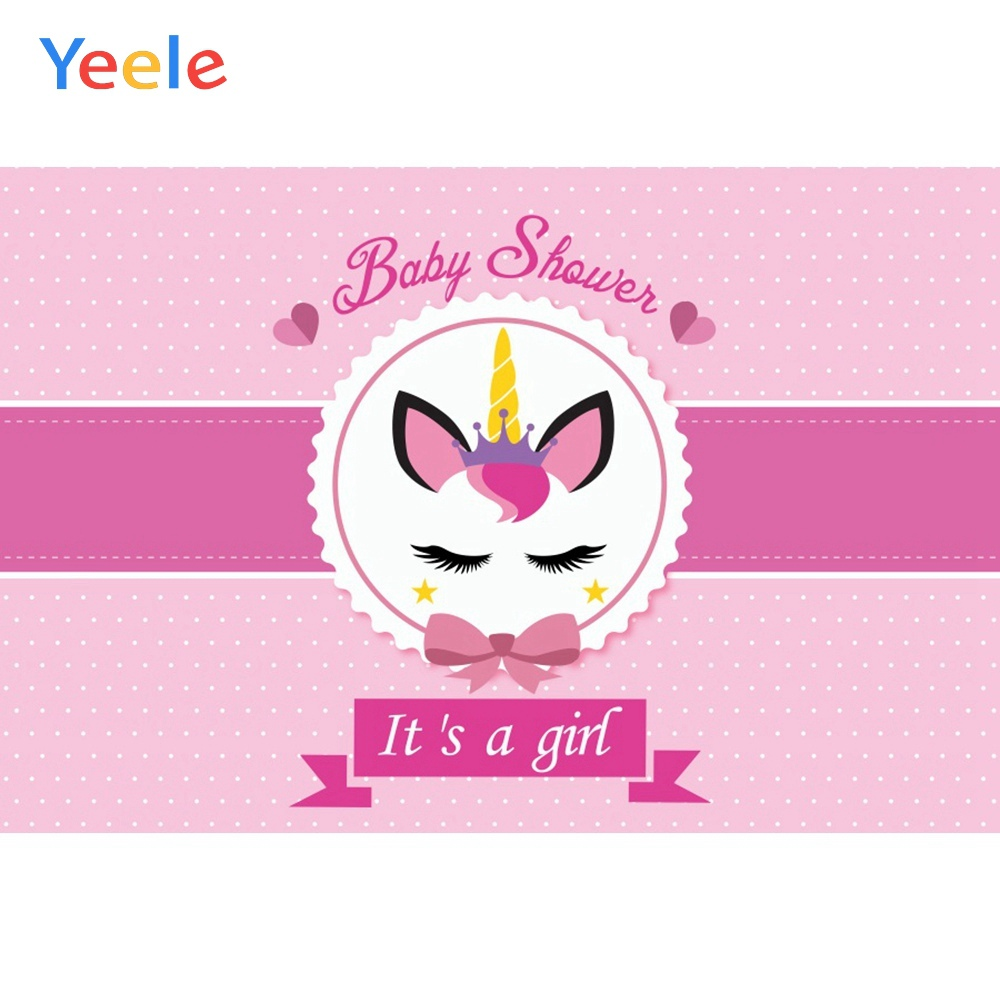 Yeele Unicorn Baby Shower New Birth Photocall Clever Photography Backdrop Personalized Photographic Backgrounds For Photo Studio